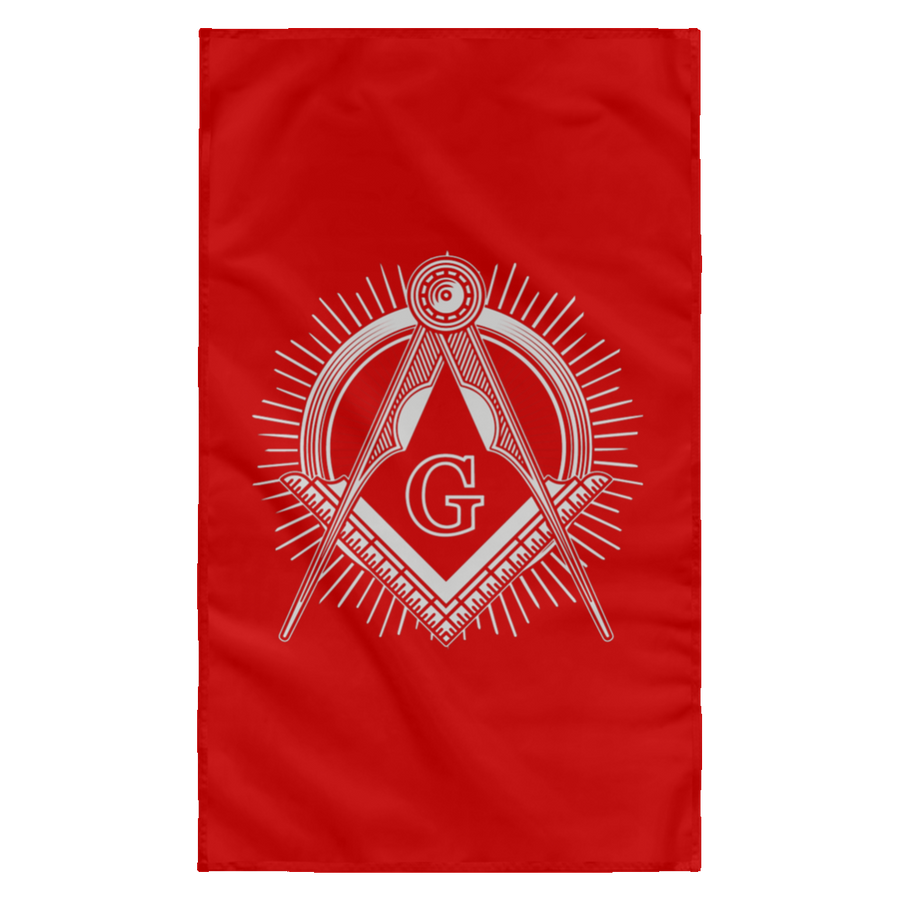Freemason Logo Square & Compass Wall Flag