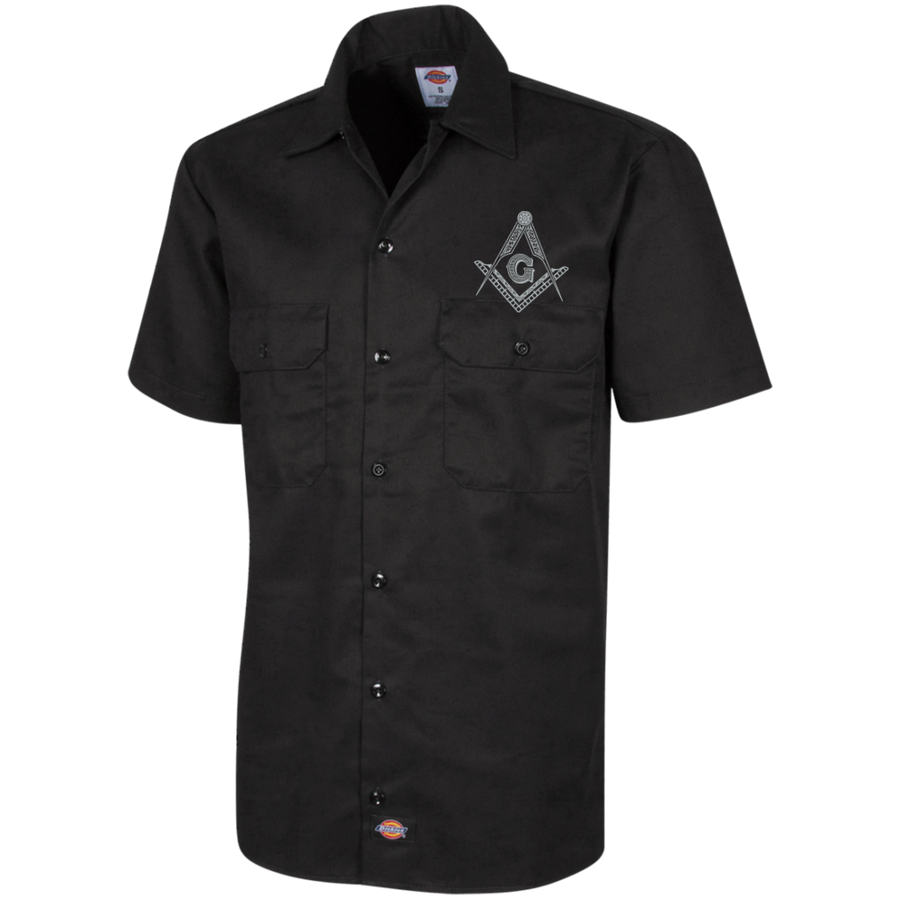 Square & Compass Short Sleeve Workshirt [Sale]