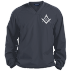Square & Compass V-Neck Windbreaker