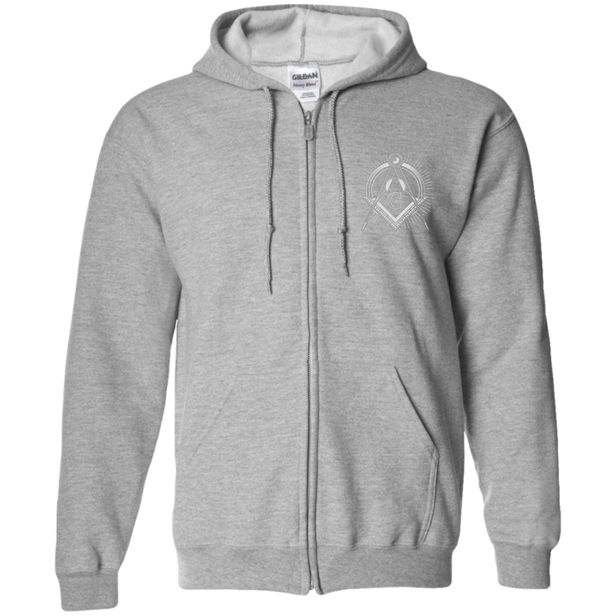 Square & Compass (Vintage Logo) Zip-Up Hoodie