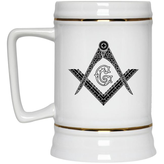 Square & Compass Beer Stein