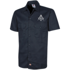 Official Dickie's Square & Compass Work Shirt [Small White]