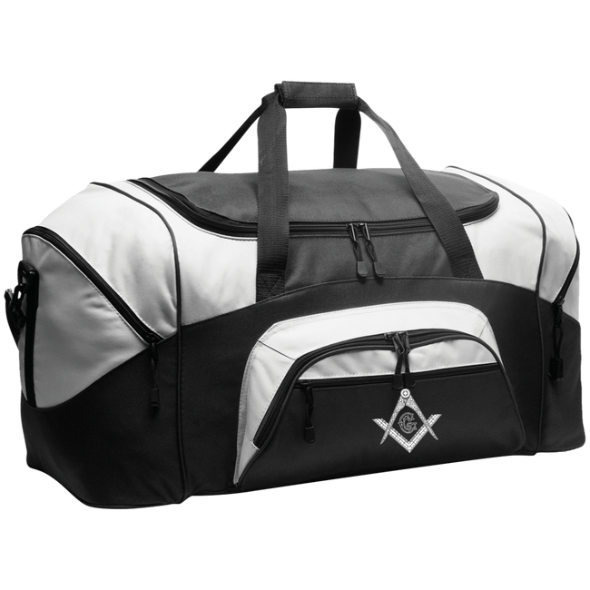 Square & Compass Colorblock Sport Duffel