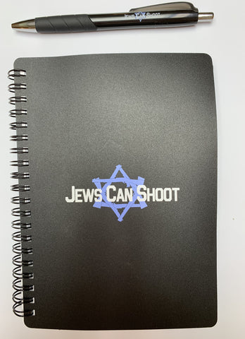 16 oz. Travel Mug double-wall stainless steel with Jews Can Shoot logo