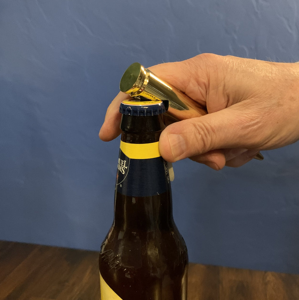 Crack open a cold one with this very cool 50 Cal BMG bottle opener