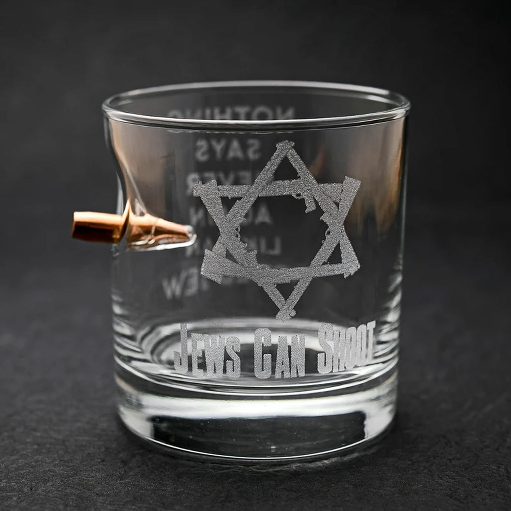 Jews Can Shoot Rocks Glass