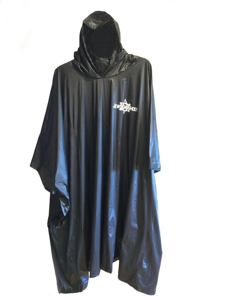 Rain Poncho - with Jews Can Shoot logo