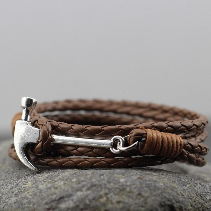Hammer Leather Bracelet