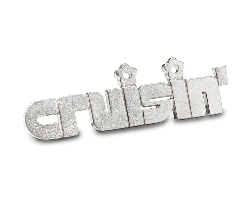 cruisin' - sterling silver pin