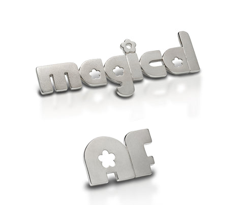magical AF - sterling silver pin phrase