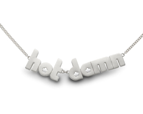 hot damn - sterling silver necklace
