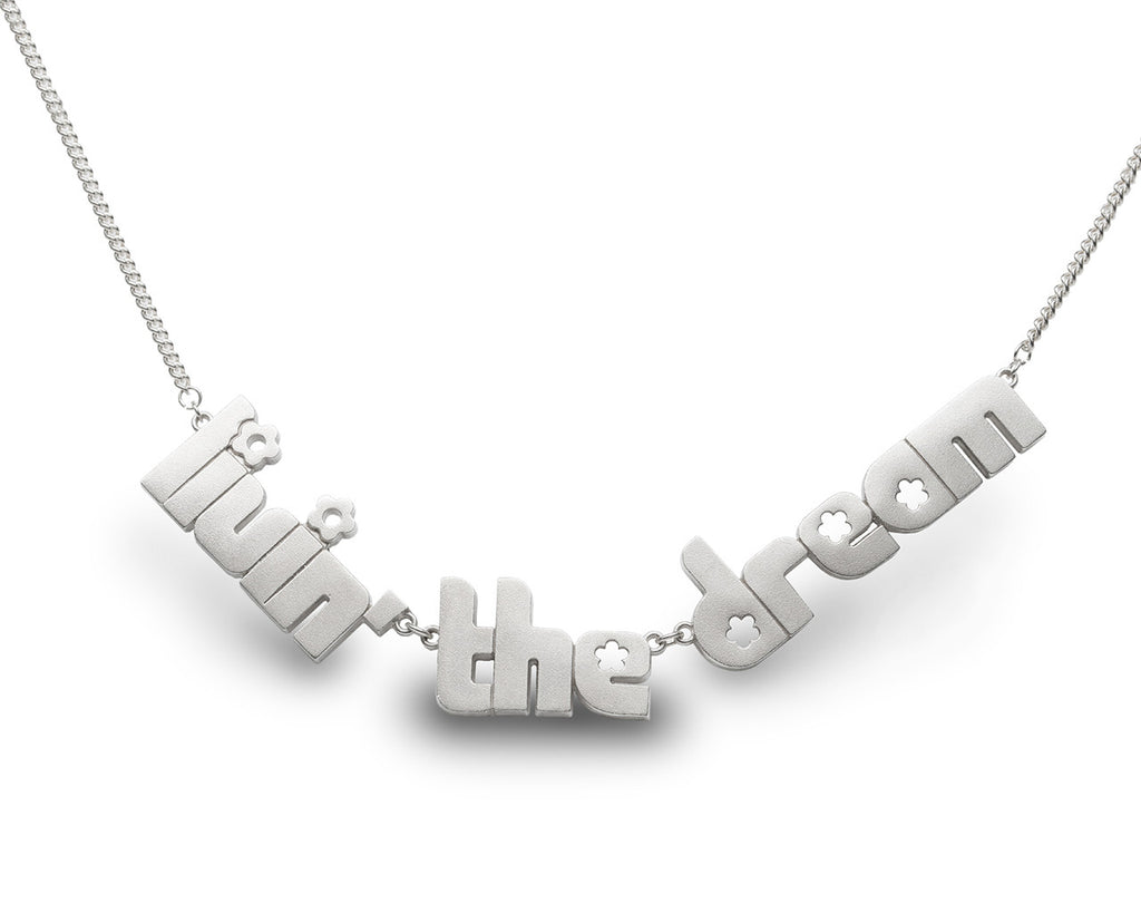 livin' the dream - sterling silver necklace