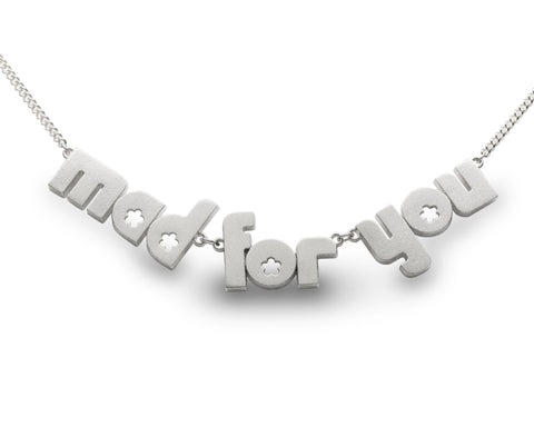 mad for you - sterling silver necklace