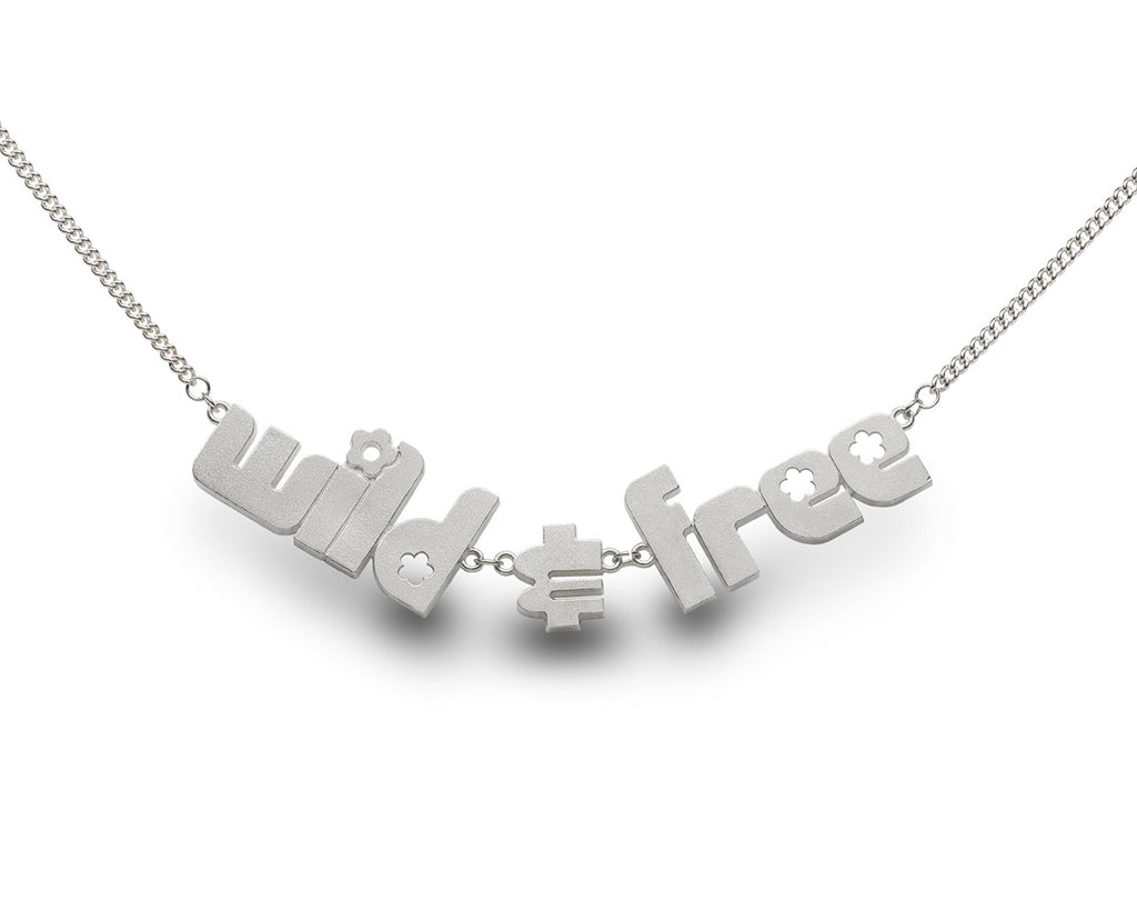 wild & free - sterling silver necklace