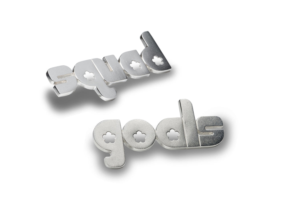 squad goals - sterling silver pin phrase