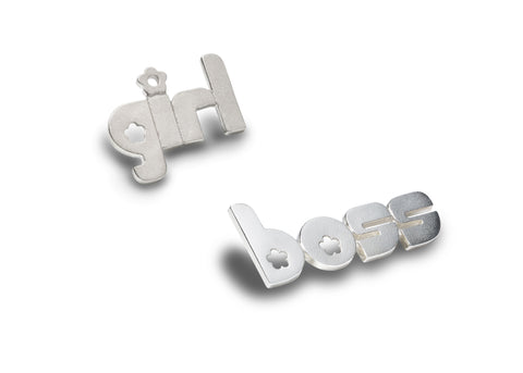 girl boss - sterling silver pin phrase