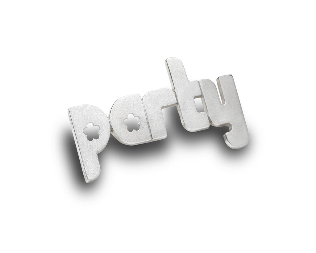 party - sterling silver pin