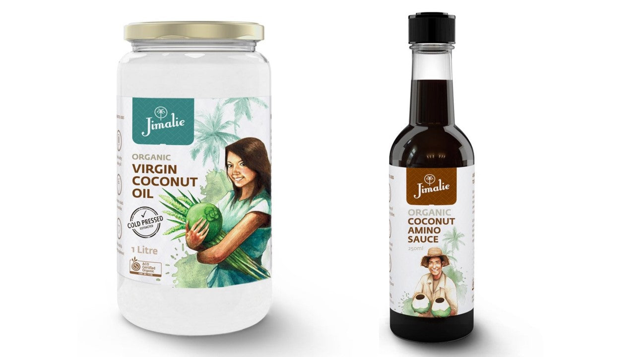 New products - Jimalie Coconut Oil & Coconut Amino Sauce