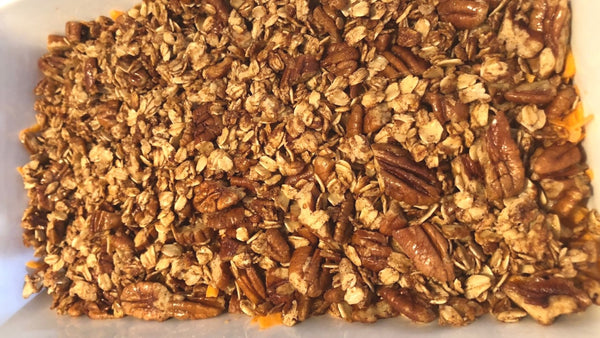Sweet Potato, Pecan & Oat Crisp