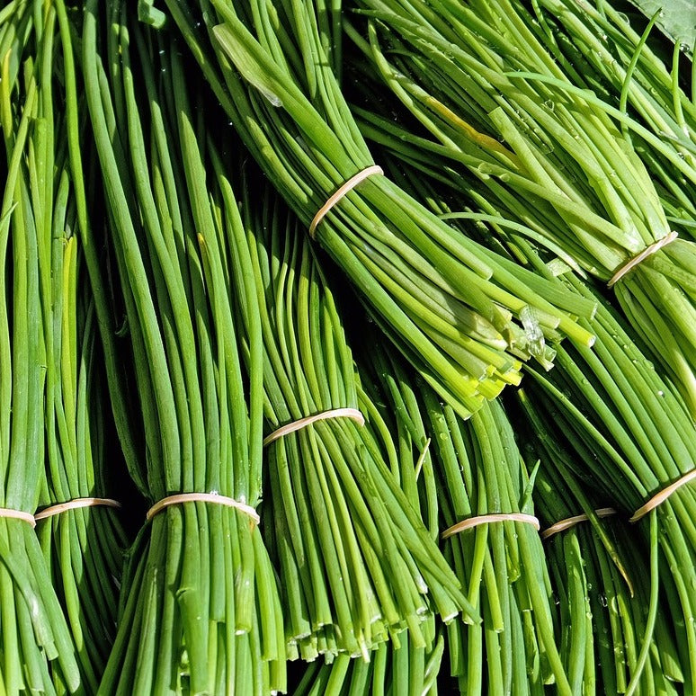 Organic chives picked fresh from the farm to you via home delivery in Brisbane