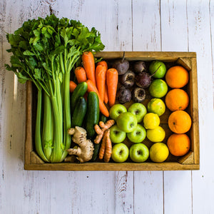 Juicing Fruit Vegetable setbox sprayfree organic local