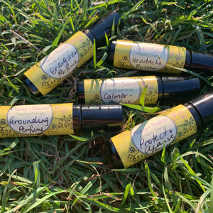 Plants + Passion Natural Organic Perfumes in roller bottle available for purchase from Spray Free Farmacy online