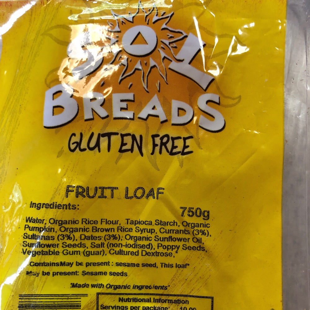 GF Organic Fruit Loaf (700gm)