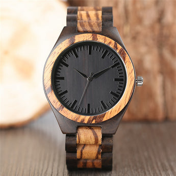 Woodie Zebra Wood Watch