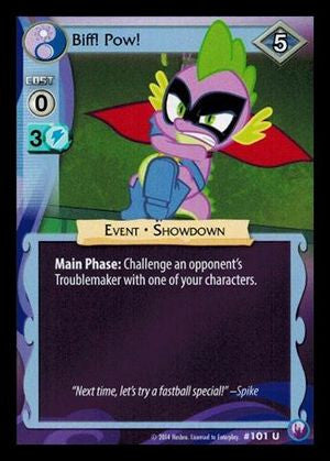 My Little Pony Card Game #101 Biff! Pow! - Uncommon