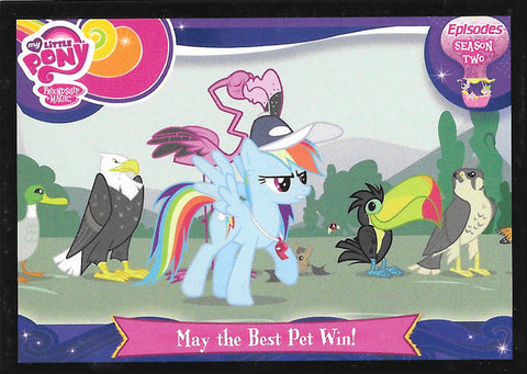 My Little Pony Trading Card #E33 May the best pet win