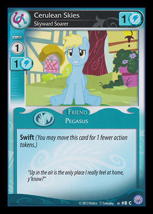 My Little Pony Card Game #08 Cerulean Skies - Common