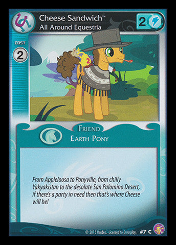 My Little Pony Card Game #07 Cheese Sandwhich - Common