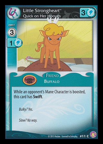 My Little Pony Card Game #11 Little Strongheart - Common