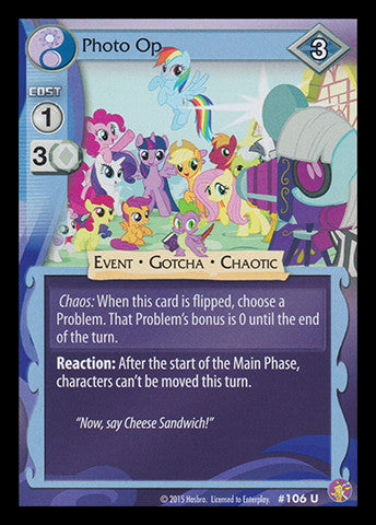 My Little Pony Card Game #106 Photo Op - Uncommon