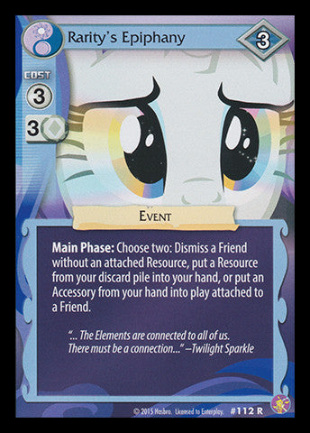 My Little Pony Card Game #112 Rarity's Epiphany - RARE