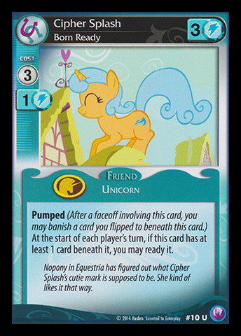 My Little Pony Card Game #10 Cipher Splash - Uncommon