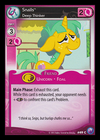 My Little Pony Card Game #49 Snails - Common