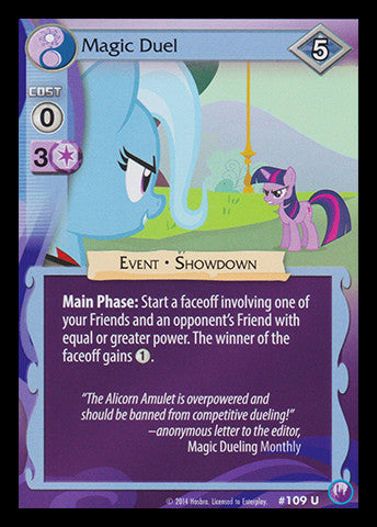 My Little Pony Card Game #109 Magic Duel - Uncommon