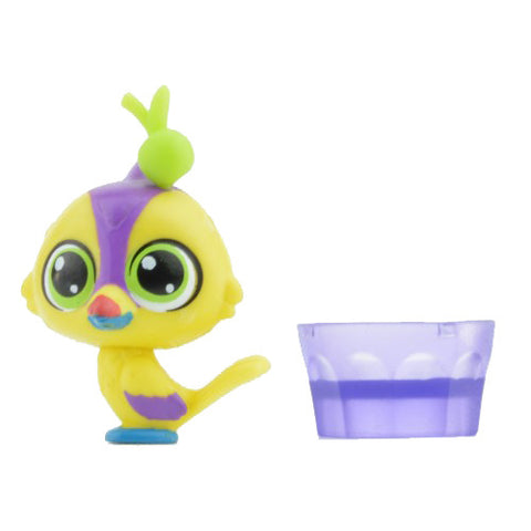 Littlest Pet Shop Cozy Snackers Series 3 Mini-Figure - Yellow Parrot / #3994
