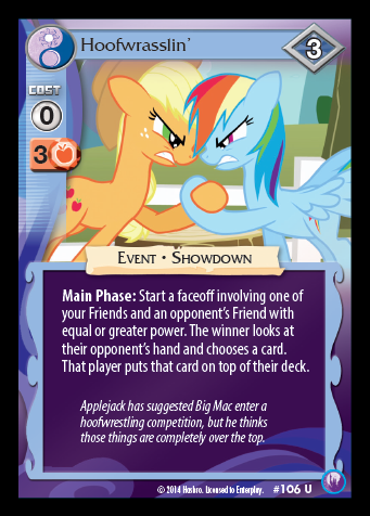 My Little Pony Card Game #106 Hoofwrasslin' - Uncommon