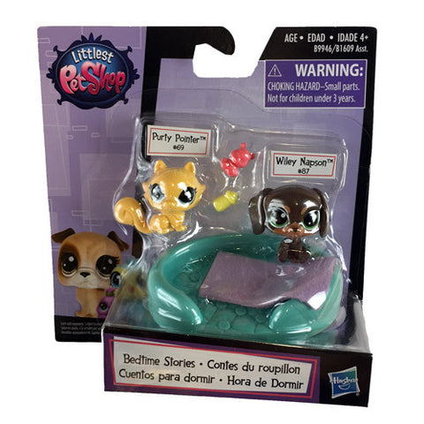Littlest Pet Shop #69 Purty Pointer and #87 Wiley Napson