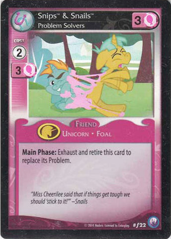 My Little Pony Card Game #F22 Snips & Snails - Promotional FOIL