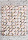 Hand quilted half square triangle beginner quilt