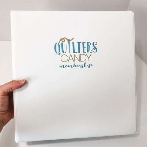 Quilters Candy Membership Binders