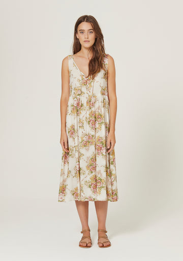 Bonnie Beachside Midi Dress Off White