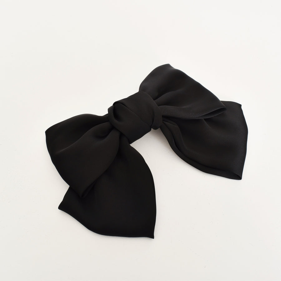 OVERSIZED BOW HAIR CLIP - BLACK