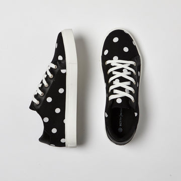 EXPLORATION SNEAKER - BLACK/WHITE SPOT