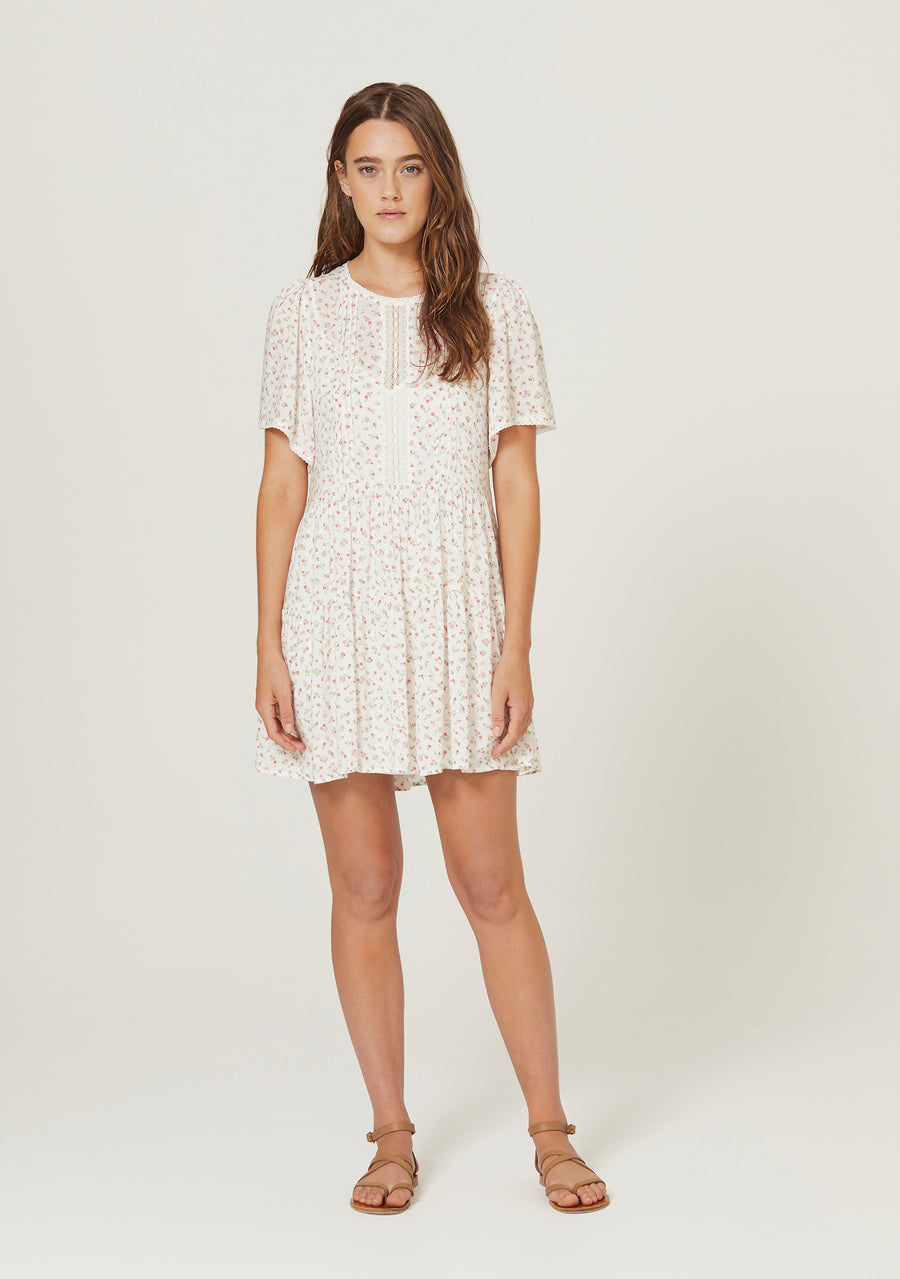 Morgan Delilah Mini Dress White