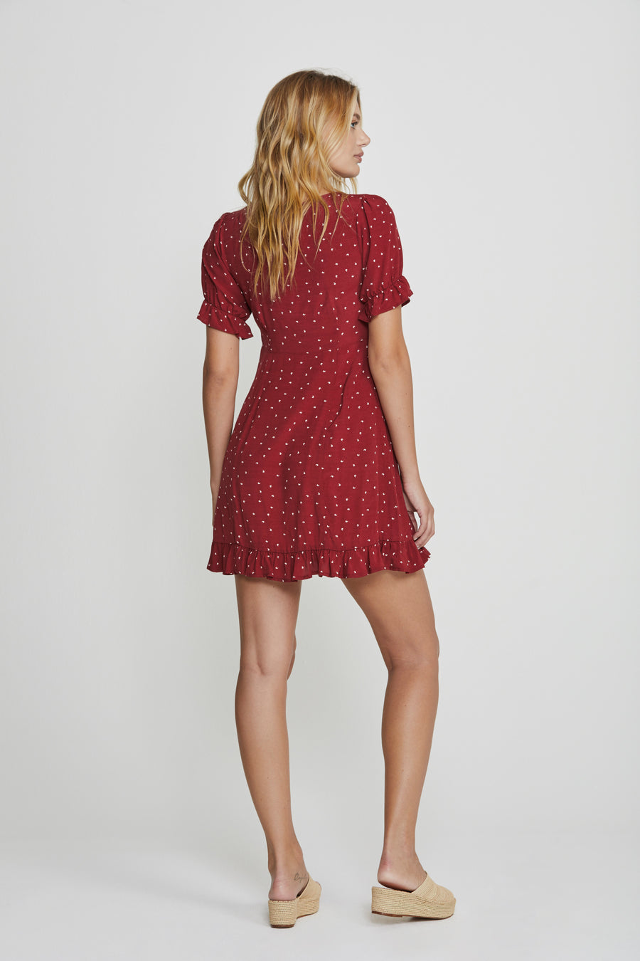 Luna Dusk Mini Dress Wine