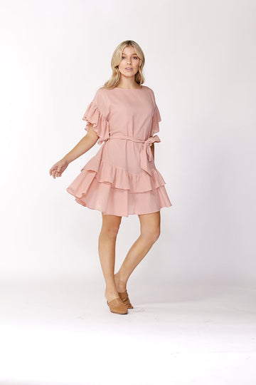 Ruffle Check Dress